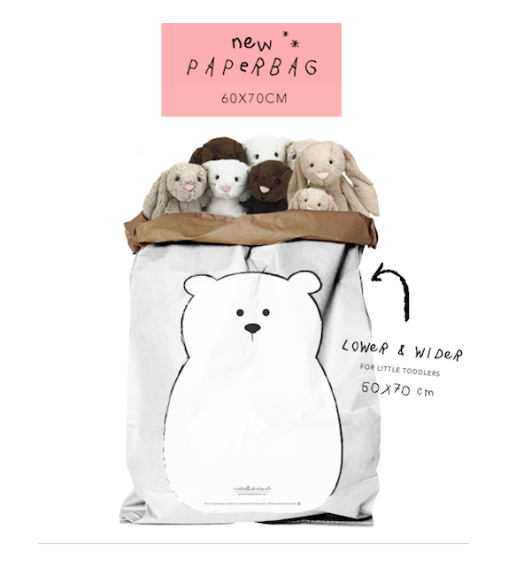 "Paberkott ""Baby Bear"" valge"